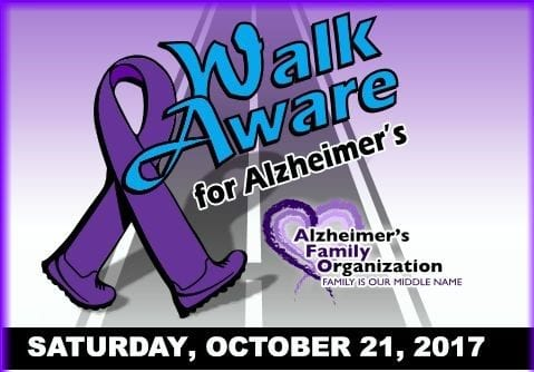 Walkers wanted for Walk Aware for Alzheimers Oct. 21