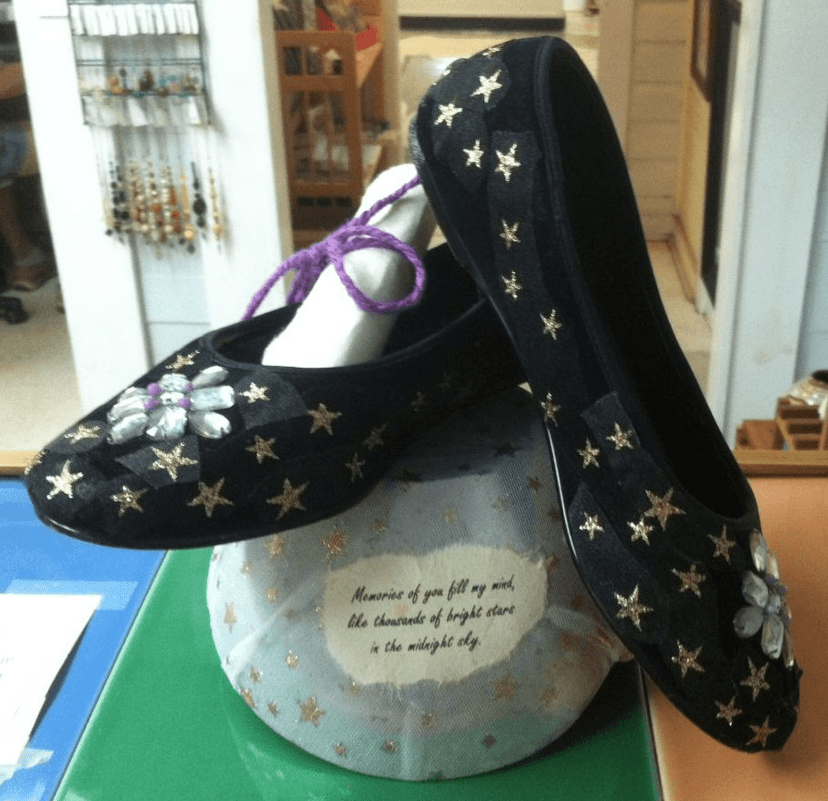 Shoes with stars on them