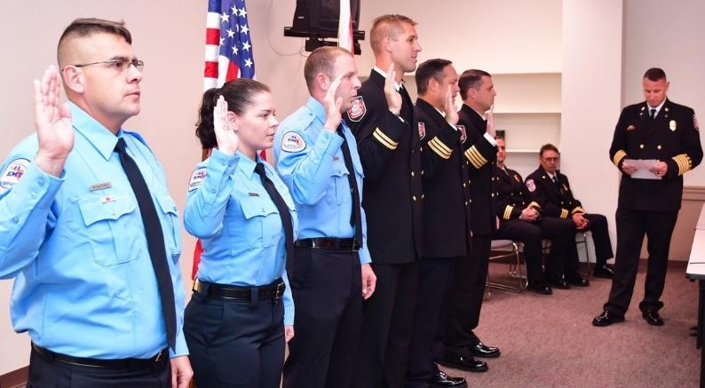 Citrus County Fire Rescue Firefighters Promoted