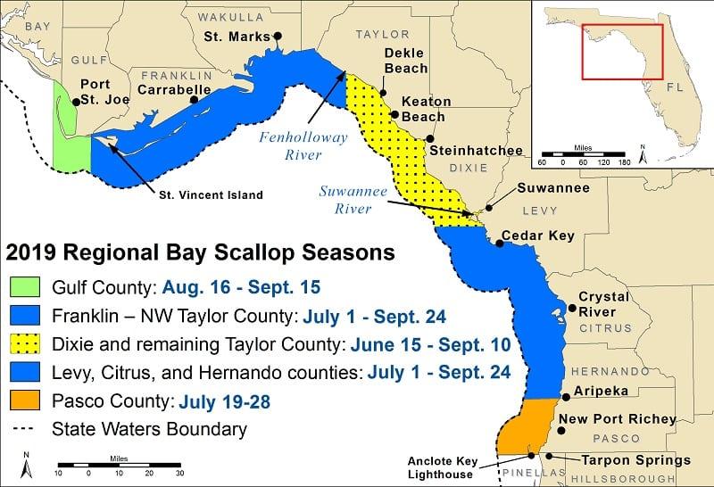 2019 Scallop season map