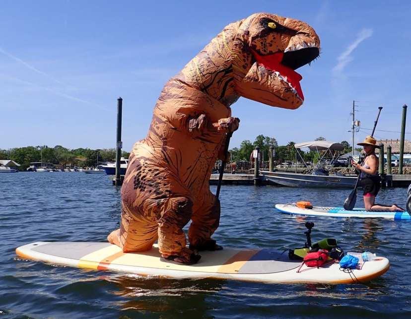 dave the paddling dinosaur