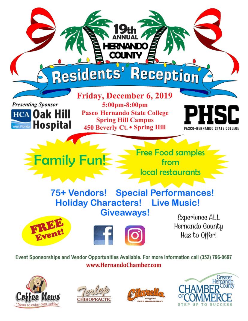 hernando county residents reception flyer