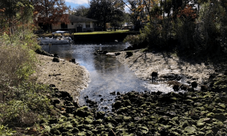 stormwater reentering crystal river