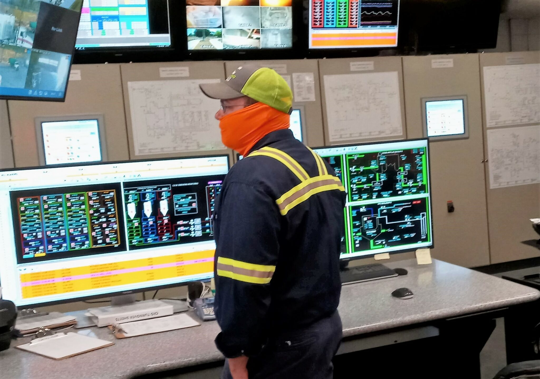 Gentry Storm is seen supervising the many systems that operate at Pasco's WTE plant.