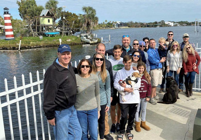 Large group of people at Florida Cracker Resort