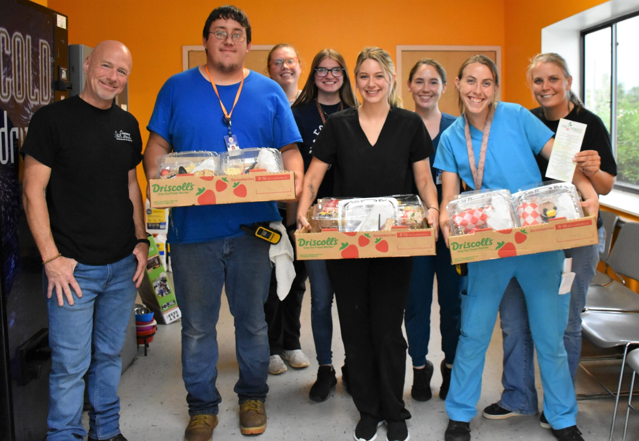 On June 25, 2021, Dillon's Cinnamon Sticks restaurant prepared and delivered meals for each of the 17 staff members at Citrus County Animal Services (CCAS).