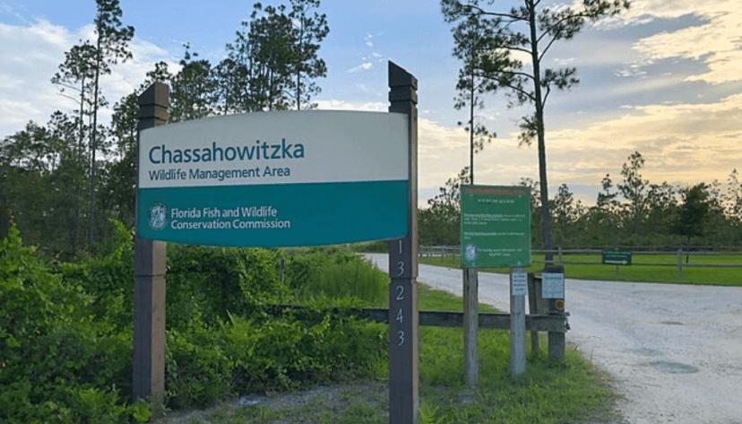 Chassahowitzka WMA main entrance