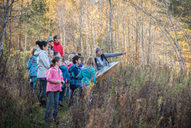 Jenna Siu leading the group at Nature Days, Happy Valley Forest (Photo by HSBC Bank Canada)