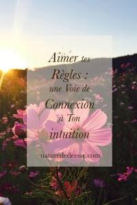 Aimer tes Règles : ta Voie de Connexion à Ton intuition