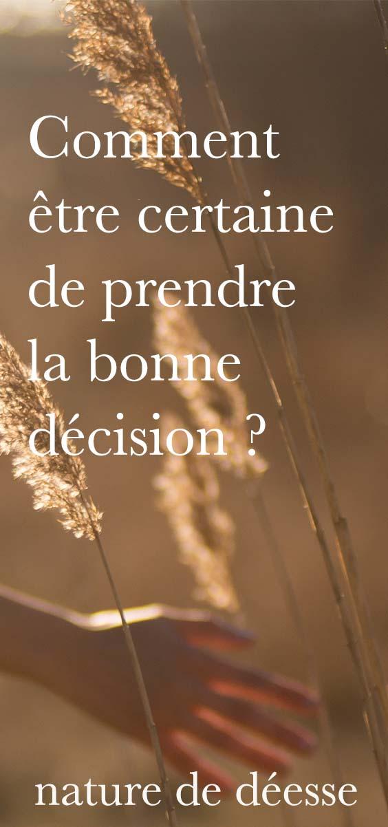 Tu dois prendre une décision et voilà que tu te met à douter... Comment savoir si tu fais le bon choix ? Comment être sur de ne pas te tromper ?