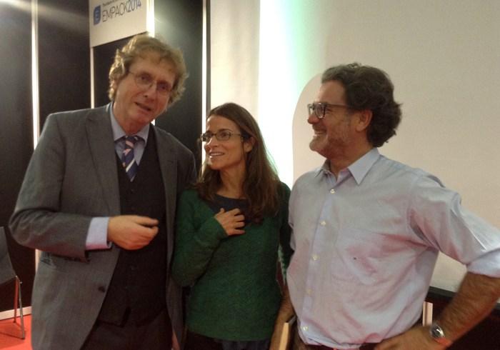 con Michael Braunghart de Cradle to Cradle y Victoria de Pereda del IED
