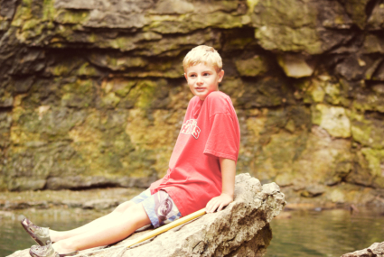 Chilling on a rock