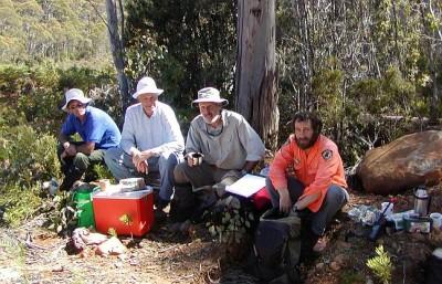 Volunteers and a ranger, Tasmania