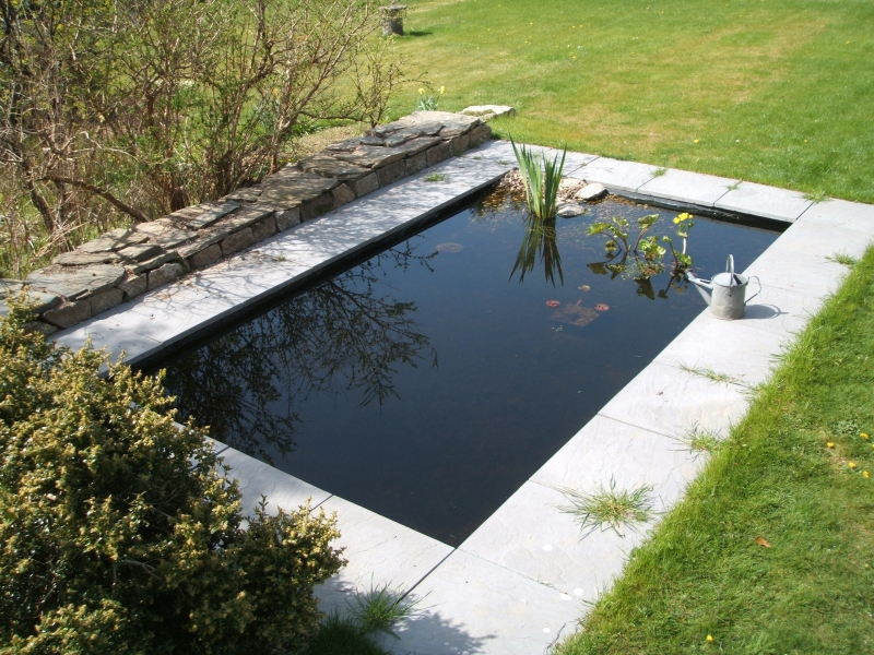 bassin de jardin rectangulaire materiel de bassins