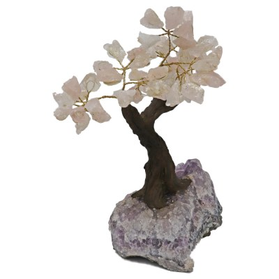 BT200 - Small Bonsai Tree: Rose Quartz