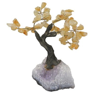 BT300 - Small Bonsai Tree: Citrine