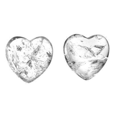 CQH - Clear Quartz Hearts