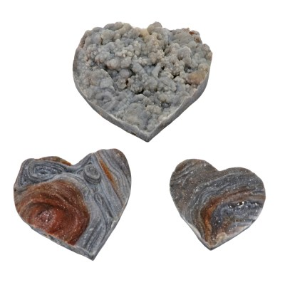 HDAFc - Agate Shell Druze Hearts
