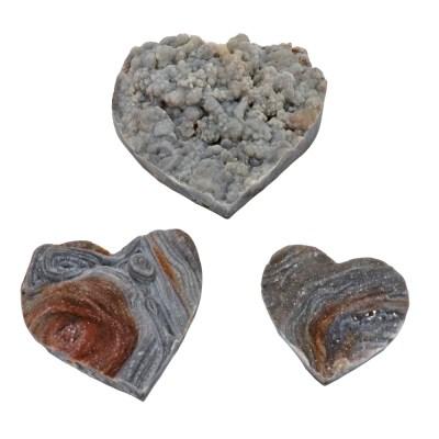 HDAFa - Agate Shell Druze Hearts