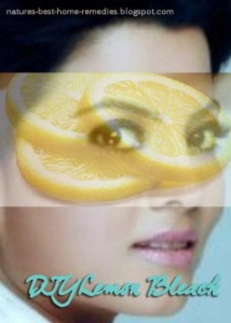 skin lightening with lemon bleach