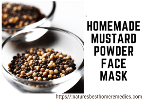 mustard powder face mask