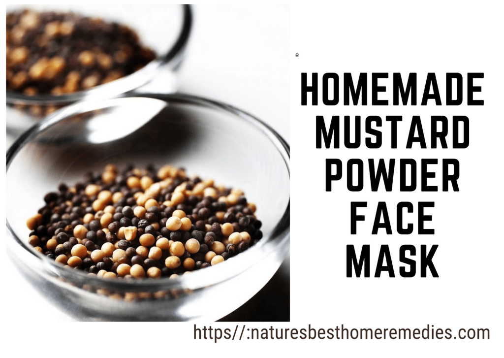 mustard powder face mask