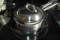 double boiler herbal oil infusion
