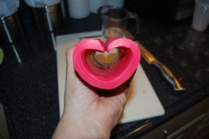 how to make heart soap