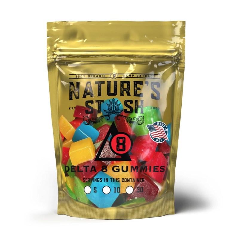 Nature's Stash Delta 8 CBD THC Gummies