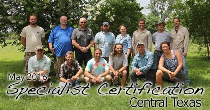 Central Texas Specialist Certification 5/22/2016