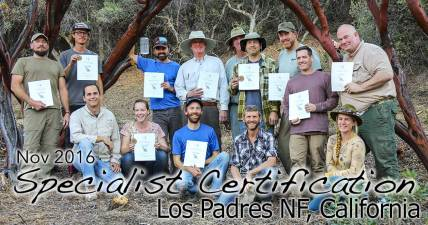 Los Padres Specialist Certification 11/15/2016