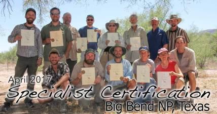 Big Bend Specialist Certification 4/09/2017