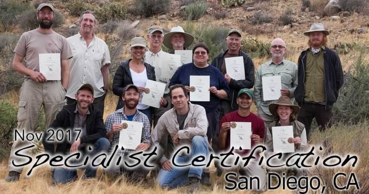 San Diego Specialist Cert 11/12/2017