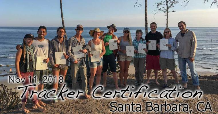 Santa Barbara Tracker Certification 11/11/2018