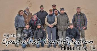 Monahans TX Specialist Certification 2/10/2019