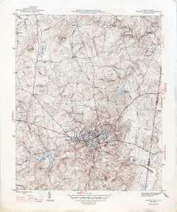 Chapel Hill Topo Map