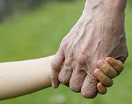 Hände die sich halten