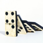 A picture showing a domino cascade.