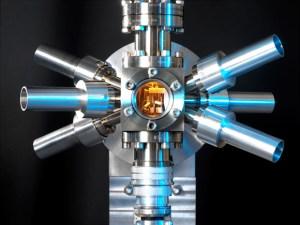 A photograph of an optical clock.