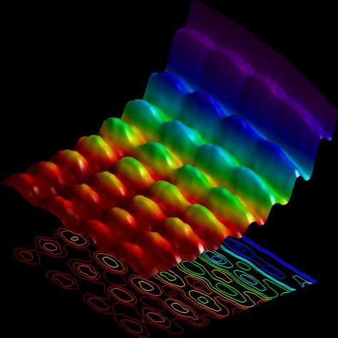 This seminal photograph shows, for the first time, light in all its beauty, simultaneously seen as a wave and as a particle.