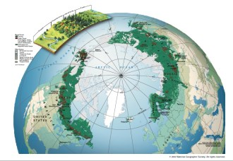 A map showing the distribution of the Boreal Forest on Earth. Source: National Geographic
