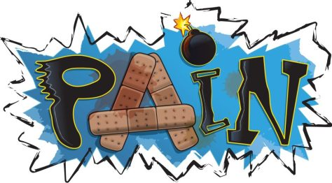 A cartoon illustrating the phenomenon of physiological pain.
