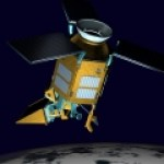An artist impression of the Sentinel-5P observation satellite.