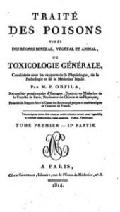 "The title page of Mathieu Orfila's work ""Traité des Poisons"", published in 1813."
