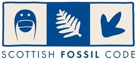 The logo of the Scottish Fossil Code.