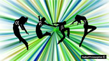 Radioactivity and the Background of Dancing Particles