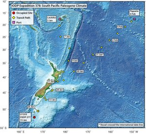IODP Expedition 378 began on 3 January 2020 in Lautoka, Fiji, and is scheduled to end on 6 February 2020 in Papeete, Tahiti.