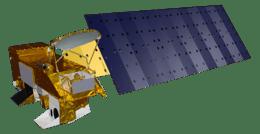 An artist impression of NASA's Aqua Modis satellite.