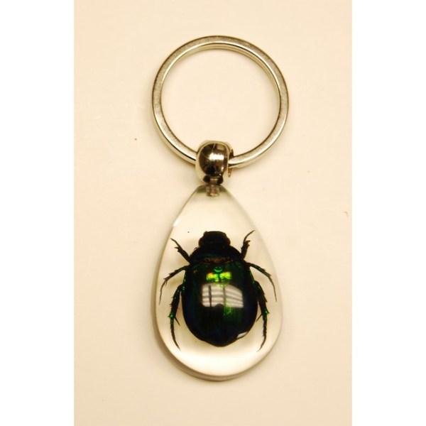Keychain Green beetle