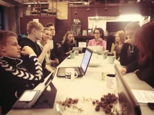 Første møde mellem  medlemmerne af Aalborg Ungebyråd. Foto: Aalborg Ungebyråd